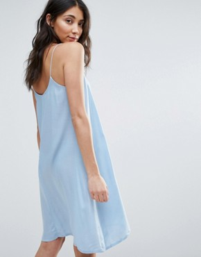 photo Cami Dress by First & I, color Blue Bell - Image 2