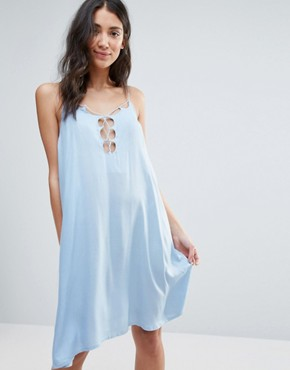 photo Cami Dress by First & I, color Blue Bell - Image 1