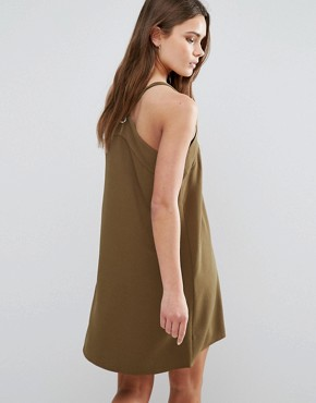 photo Cami Dress by First & I, color Dark Green - Image 2