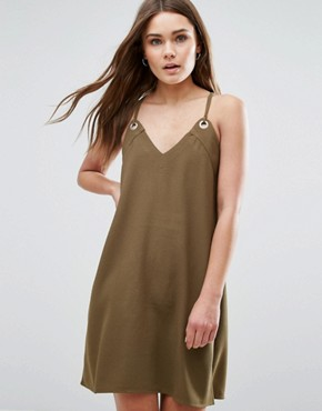 photo Cami Dress by First & I, color Dark Green - Image 1