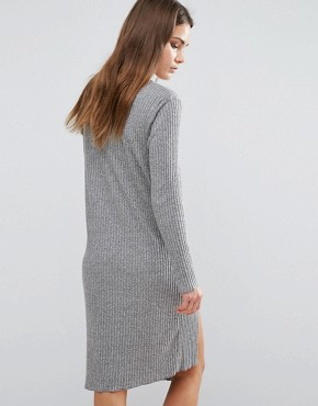 photo Knitted Midi Dress by First & I, color Grey - Image 2
