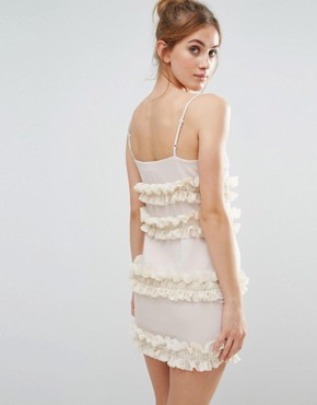 photo Frill Cami Dress by The English Factory, color Beige - Image 2