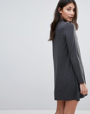 photo Jersey Swing Dress by Brave Soul, color Charcoal - Image 2