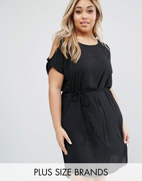 photo Dress with Cold Shoulder by Koko Plus, color Black - Image 1
