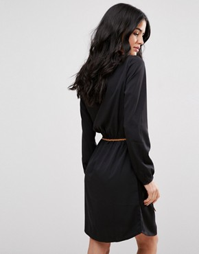 photo Carly Belted Shift Dress by Blend She, color Black - Image 2