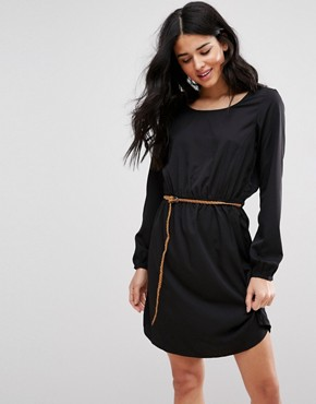photo Carly Belted Shift Dress by Blend She, color Black - Image 1
