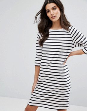 photo Stripe Dress by Selected Femme, color White/Sapphire - Image 1