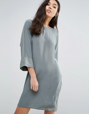 photo 3/4 Sleeve Shift Dress by Minimum, color Balsam Green - Image 1
