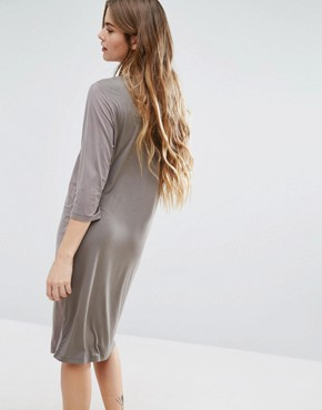 photo 3/4 Sleeve Shift Dress by Minimum, color Grey - Image 2