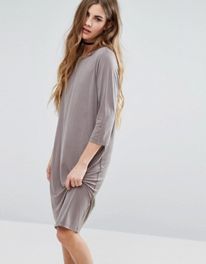 photo 3/4 Sleeve Shift Dress by Minimum, color Grey - Image 1