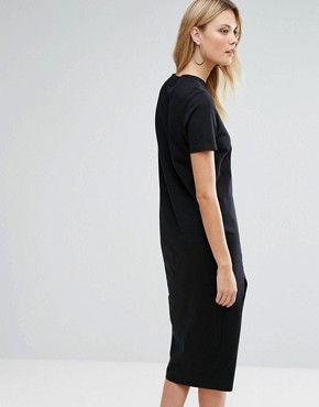 photo Ultimate T-Shirt Midi Dress with Side Split by ASOS TALL, color Black - Image 2