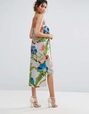 photo Palm Print Midi with Double Layer by Every Cloud, color Multi Palm Print - Image 2