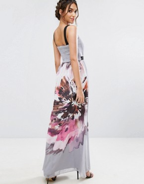 photo Oversized Floral Maxi Dress by Little Mistress, color  - Image 2