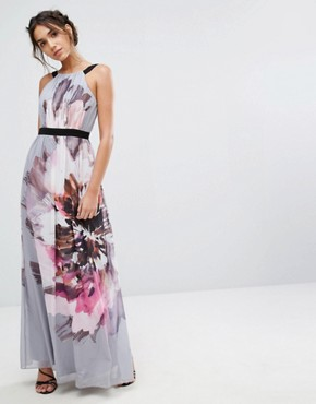 photo Oversized Floral Maxi Dress by Little Mistress, color  - Image 1