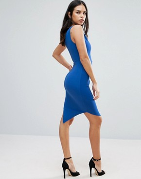 photo Asymmetric Dress With Contrast Double Strap by Jessica Wright, color Blue - Image 2