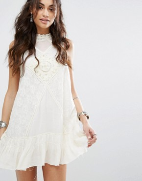 photo One Angel Lace Dress by Free People, color Ivory - Image 2