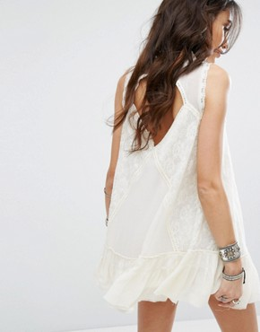 photo One Angel Lace Dress by Free People, color Ivory - Image 1