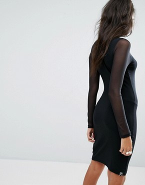 photo Bodycon Mesh Dress by Puma, color Black - Image 2