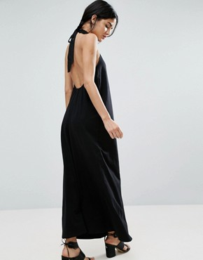 photo Halter Swing Maxi Dress by ASOS, color Black - Image 2