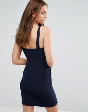 photo Zip Front Pencil Dress by Wal G, color Navy - Image 2