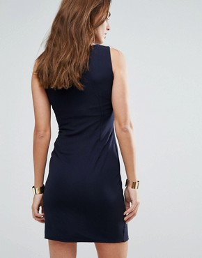 photo Zip Pencil Dress by Wal G, color Navy - Image 2