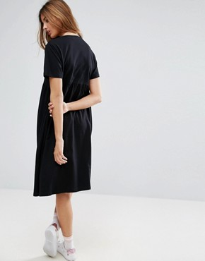 photo Ultimate Midi Smock Dress by ASOS, color Black - Image 2
