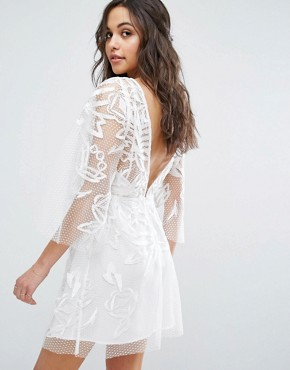 photo Burning Lace Mini Dress by Stevie May, color White - Image 2
