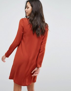 photo Dambi Tie Up Detail Dress by Supertrash, color Red - Image 2