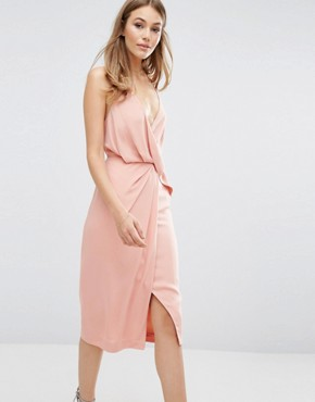 photo Without You Dress by Keepsake, color Dusty Rose - Image 1
