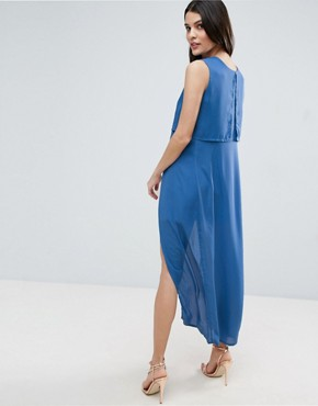 photo Icing On The Cake Two Layer Maxi Dress by Jovonna, color Blue - Image 2