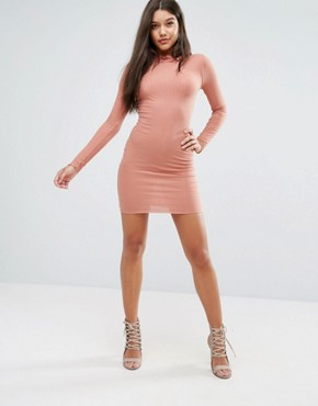 photo Frill Edge Bodycon Dress by Missguided, color Pink - Image 4