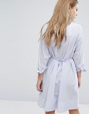 photo Smithson Stripe Cotton Dress by French Connection, color Blue - Image 2