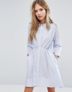 photo Smithson Stripe Cotton Dress by French Connection, color Blue - Image 1