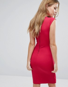 photo Lula Ponte Dress by French Connection, color Red - Image 2