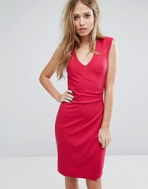 photo Lula Ponte Dress by French Connection, color Red - Image 1