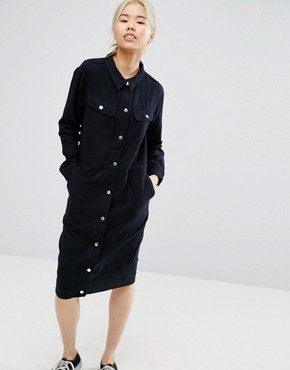 photo Utility Dress by Weekday, color Black - Image 1
