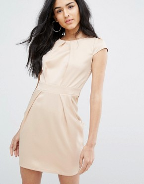 photo Tulip Dress by QED London, color Champange - Image 1