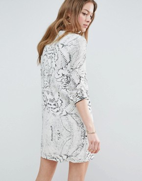 photo Snake Print Shift Dress by See U Soon, color Off White - Image 2