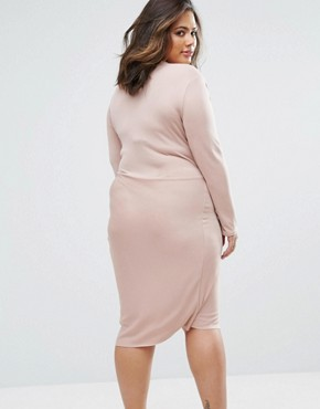 photo Twist Dress by Elvi Plus, color Pink - Image 2