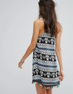 photo Cami Dress with Festival Print & Trim by Kiss The Sky, color  - Image 2