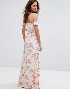 photo Printed Bella Maxi Dress by Flynn Skye, color Cream Blossoms - Image 2