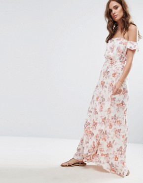 photo Printed Bella Maxi Dress by Flynn Skye, color Cream Blossoms - Image 1