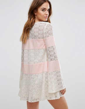 photo Embroidered Lace Grove Dress by Majorelle, color Ivory - Image 2