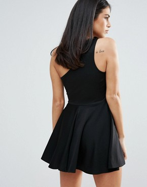 photo One Shoulder Skater Dress by Unique 21, color Black - Image 2