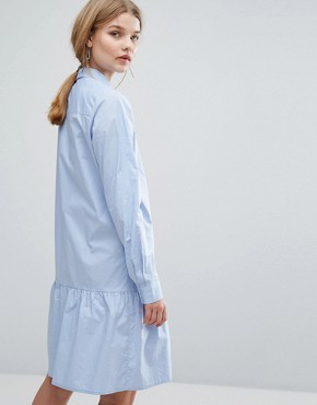 photo Inesa Dress Frill Hem Shirt Dress by Gestuz, color Kentucky Blue - Image 2