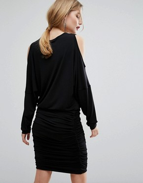 photo Pen Cold Shoulder Dress by Gestuz, color Black - Image 2