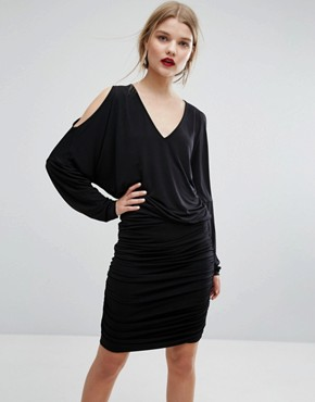 photo Pen Cold Shoulder Dress by Gestuz, color Black - Image 1