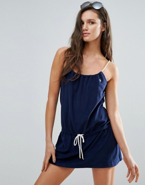 photo Towelling Beach Dress by Polo Ralph Lauren, color Navy - Image 1