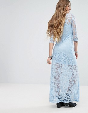 photo Embroidered Maxi Dress by Glamorous, color Dusty Blue - Image 2
