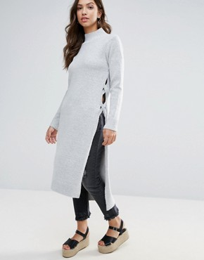 photo Jumper Dress by Glamorous, color Light Grey - Image 1